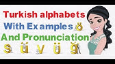 Turkish Lesson #1 for English Speakers - Alphabet and
