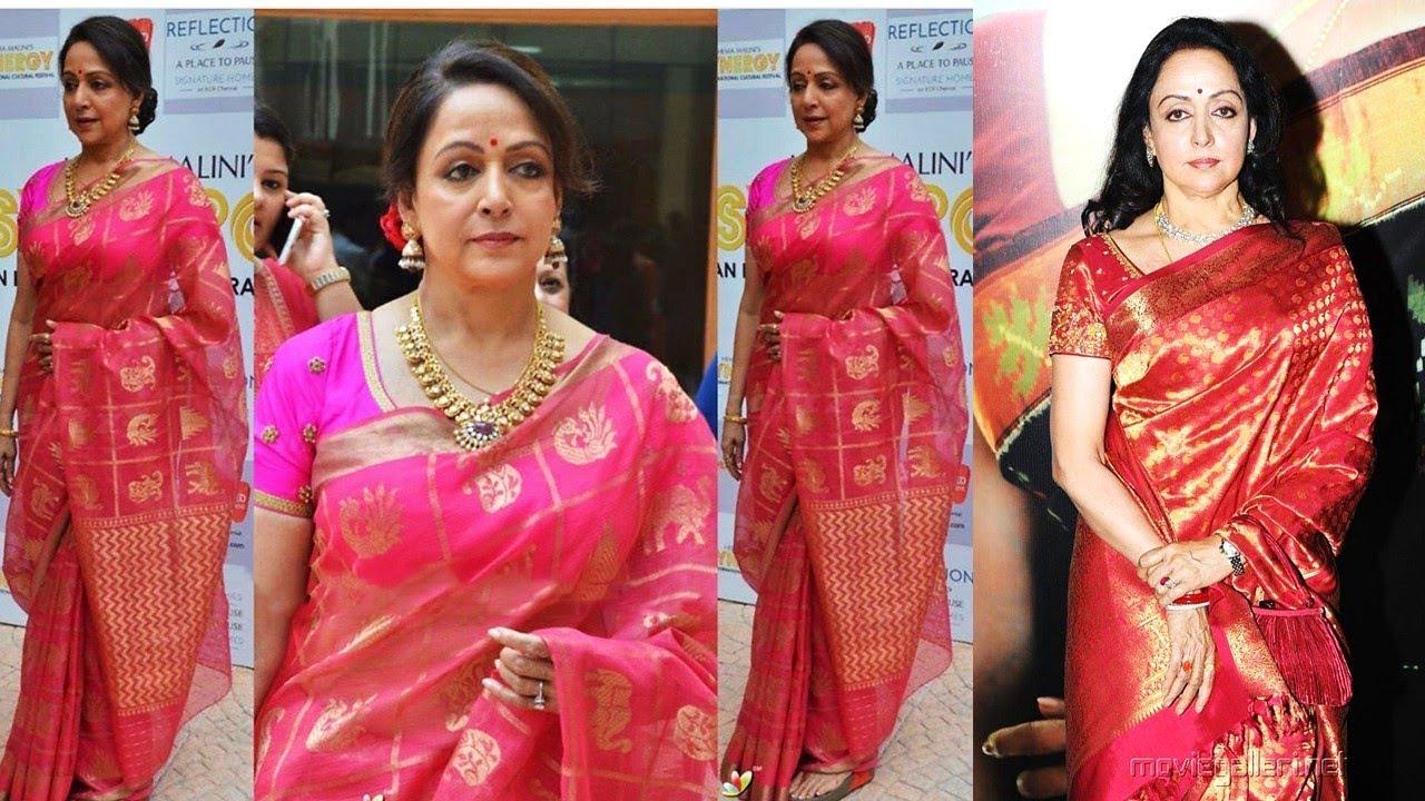Hema Malini's Saree Fashion 2019 | Indian Saree Designs 2019