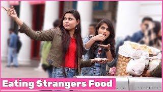 Eating Strangers Food Prank | #Kudiyo Da Tashan