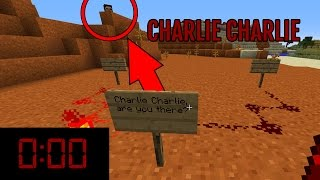 Do NOT Try The Charlie Challenge in Minecraft at MIDNIGHT (SCARY)
