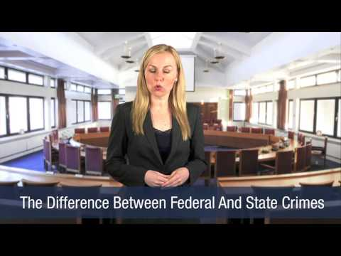 The Difference Between Federal And State Crimes