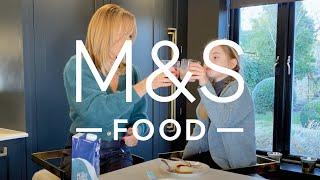 Amanda Holden tasting the new M&ampS Food vegan range  M&ampS FOOD