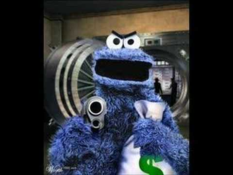 Cookie Robbery - YouTube  Elmo And Cookie Monster Gangster