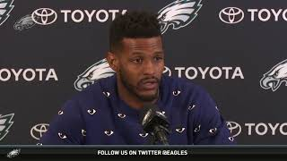Eagles Press Pass WR Mike Wallace 32318