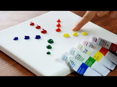 How to Finger Painting (palette-knife)|Satisfying|Simple Abstract Acrylics Tutorial for Beginners 99