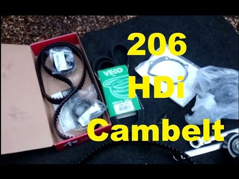 HOW TO: Peugeot 206 2.0 HDi turbo diesel Cambelt change including waterpump (timing belt)