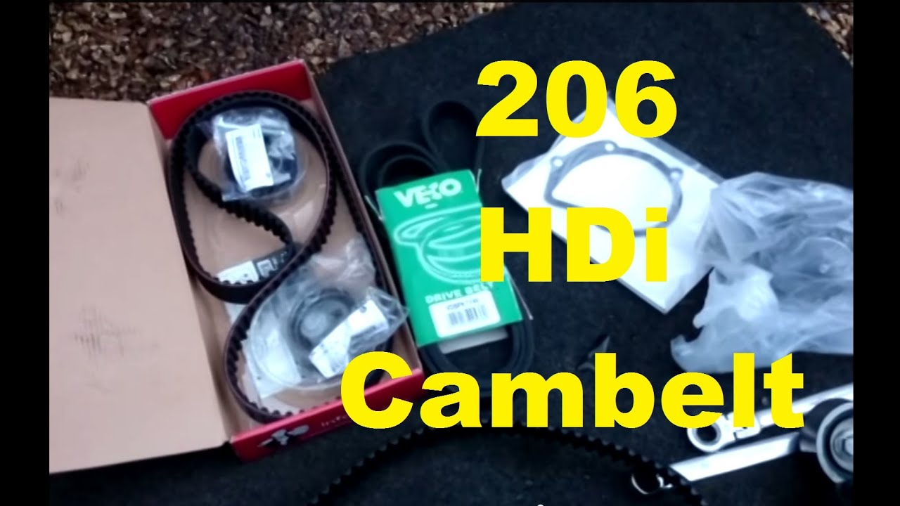 How To Peugeot 206 2 0 Hdi Turbo Diesel Cambelt Change