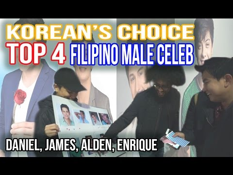 [Challenge #15] Korean's choice : TOP 4 Filipino male Celeb IDOL (Enrique, Alden, James, Daniel)