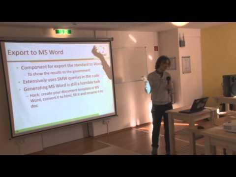 Yury Katkov - Creating standards of professional activity with Semantic MediaWiki, SMWCon Fall 2013