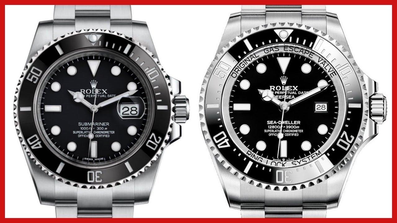 ▶ Rolex Submariner VS Rolex Deepsea, Black Ceramic, 44mm, Steel COMPARISON  , 116610LN 126660