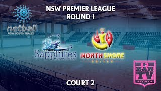 2018 Samsung Premier League Round 1 - U20s/Opens - Court 2 - Manly Sapphires v North Shore United