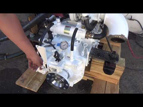 Cummins 6BTA 5 9 370 HP Engine with ZF 63A (Troll) Test for