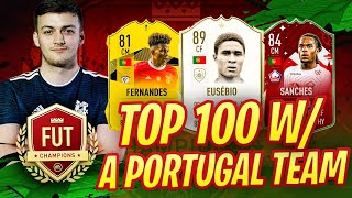 TOP 100 ON FUT CHAMPIONS with PORTUGAL TEAM!! New Series!! Fifa 20 Ultimate Team highlights!! 30-0?