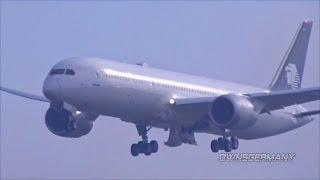 AeroMéxico Boeing 787-9 Dreamliner XA-ADC First Flight w/ Missed Approach & 1st Landing
