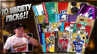 70 VARIETY PACK OPENING!! MADDEN MOBILE 20 GHOST OF MADDEN, DIAMOND PRESENT, NY MEGA, SIG & MORE!!