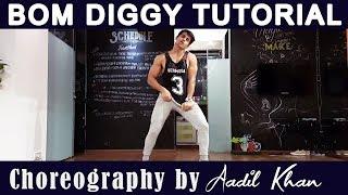 Tutorial Bom Diggy  | Zack Night X jasmin walia | easy dance | Aadil khan Choreography | Girl style