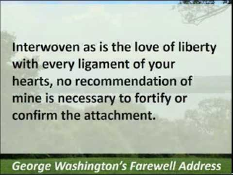 General George Washington's Farewell Address - 1796 - Hear the Full Text