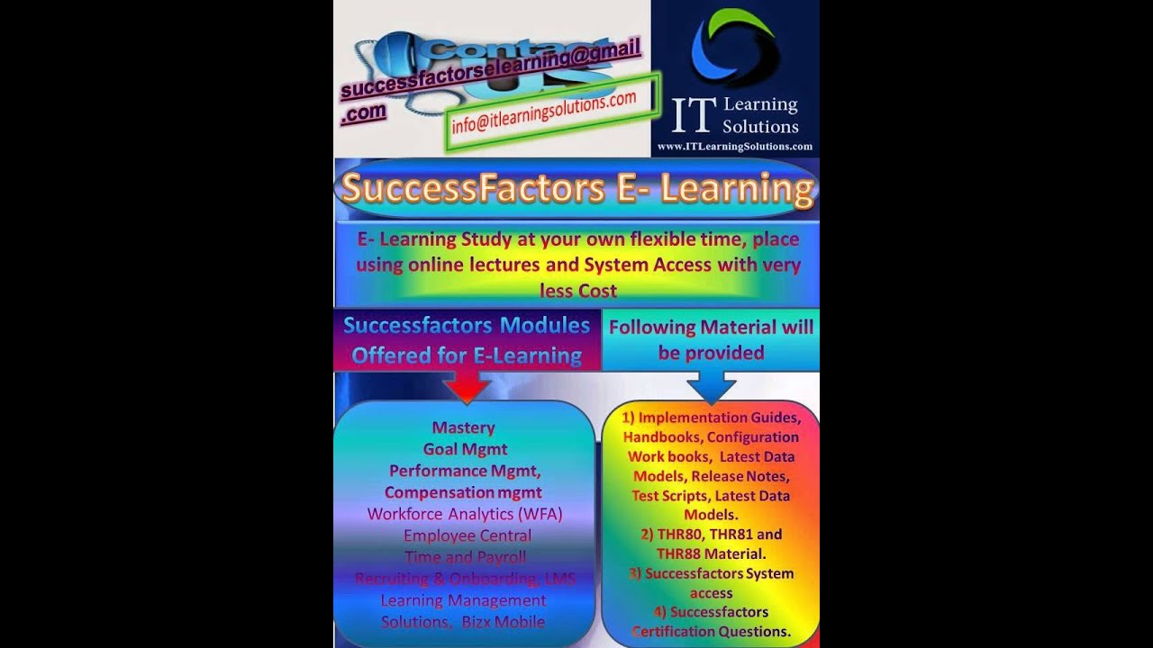 Employee Central Certification, LMS Certification, Successfactors ...