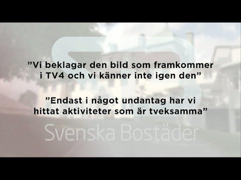 Svenska Bostäder slår tillbaka efter kritik - Nyheterna (TV4)