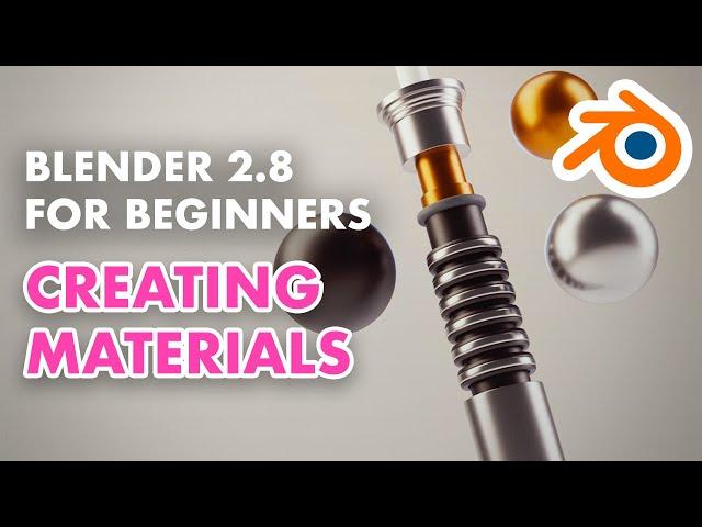 Blender 2.8 for Beginners - Making a 3D Lightsaber - Creating Materials (4/5)
