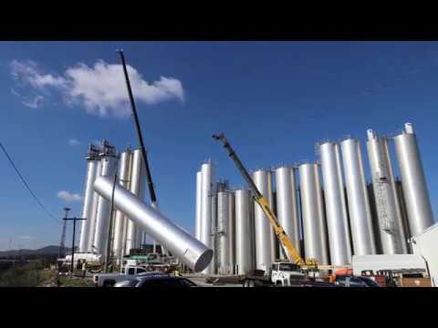 Wolfe Industrial Silo Install Timelapse