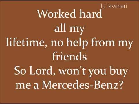 Mercedes Benz - Janis Joplin - Lyrics