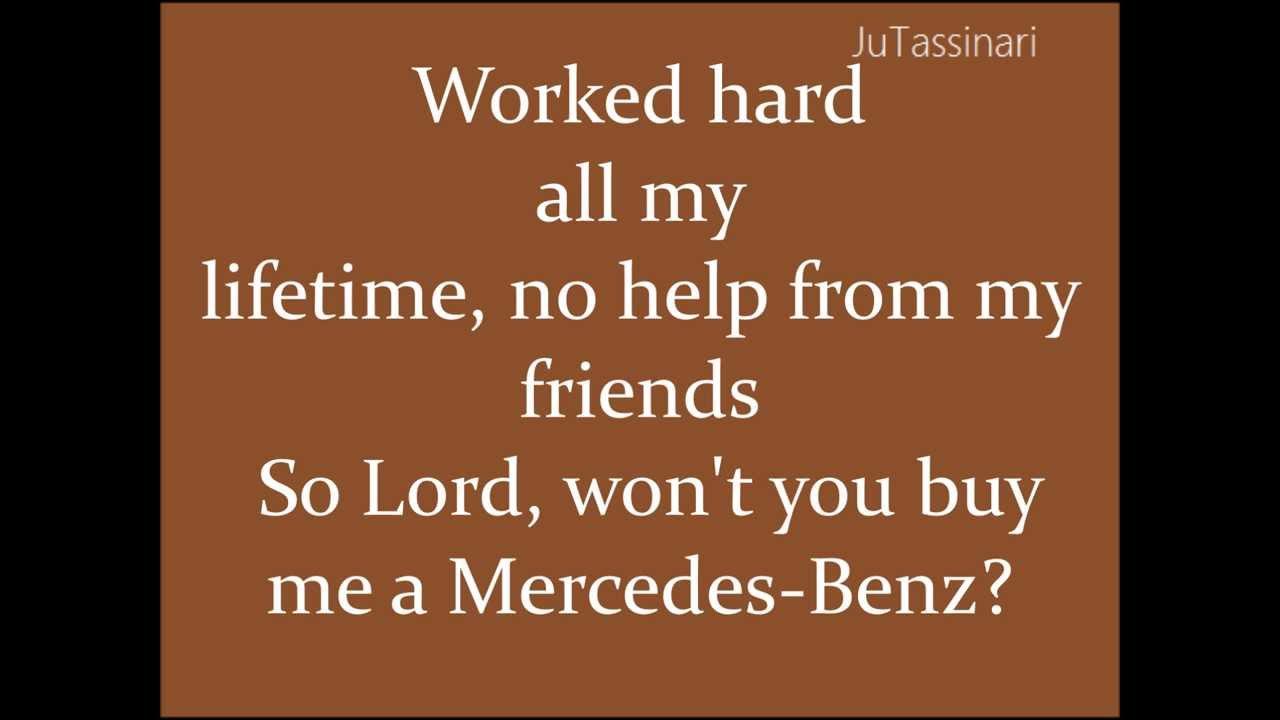 Mercedes benz janis joplin lyrics youtube for Mercedes benz lyrics