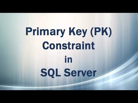 Primary Key (PK) Constraint in SQL Server