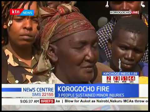 A mother of seven loses business to Korogocho  fire