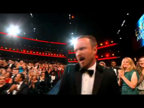 "Aaron Paul Wins An Emmy For ""Breaking Bad"" 2014"
