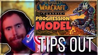 "Asmongold Reacts to ""Classic WoW Progression vs. Modern WoW Progression 