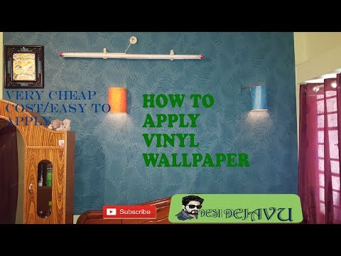 How to Apply Vinyl Wallpaper at Cheap Price