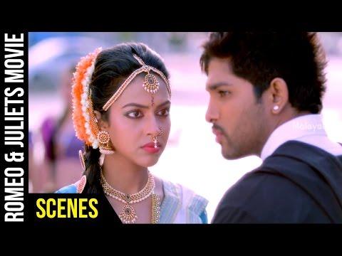 Romeo & Juliets Malayalam Movie Scenes | Allu Arjun Flirts with Amala Paul | Catherine Tresa | DSP