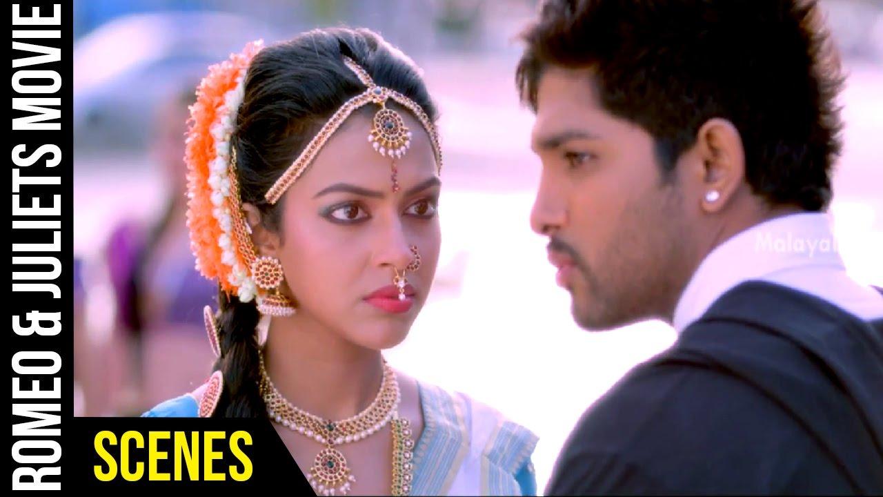 Download Romeo & Juliets Malayalam Movie Scenes   Allu Arjun Flirts with Amala Paul   Catherine Tresa   DSP