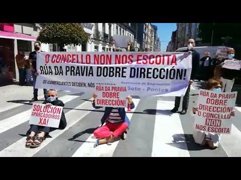 Tercer día de protestas en la Rúa da Pravia en Vilalba