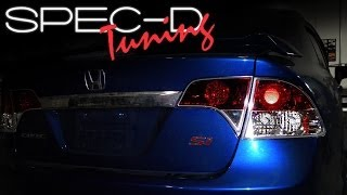 SPECDTUNING INSTALLATION VIDEO: 2006 - 2010 HONDA CIVIC 4 DOOR SEDAN TAIL LIGHTS