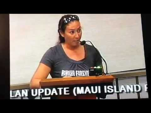 Save Honolua's Tamara Paltin Testifies at Maui County Council