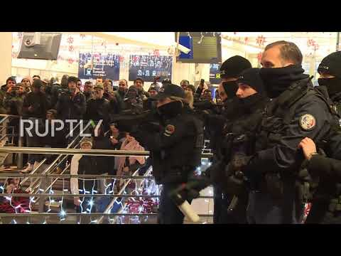 France: Police pepper-spray protesters at rally over death of black man