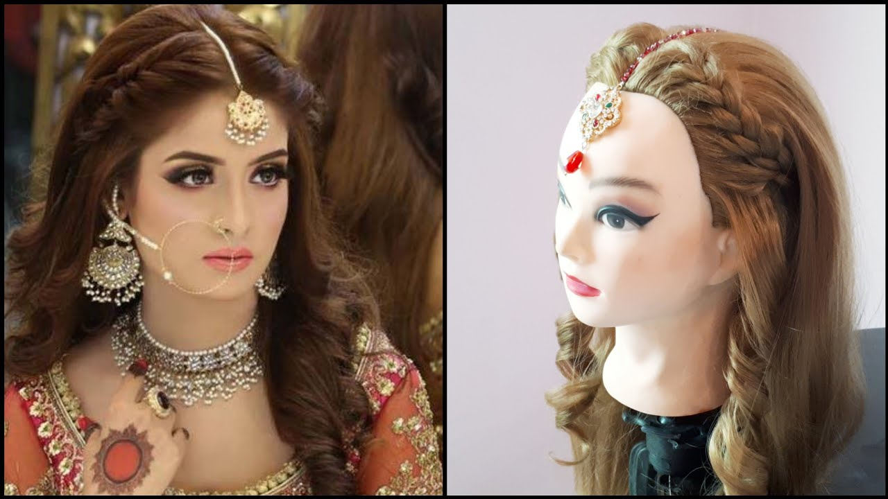 Kashee S Wedding Or Party Hairdo With Open Hair And Loose Curls Trendy Hairdo Youtube