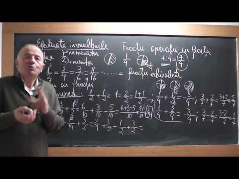 1/3 Lectia 1664 - Clasa 5 - Fractii ordinare impreuna cu Crina in direct pe Proful Online TV
