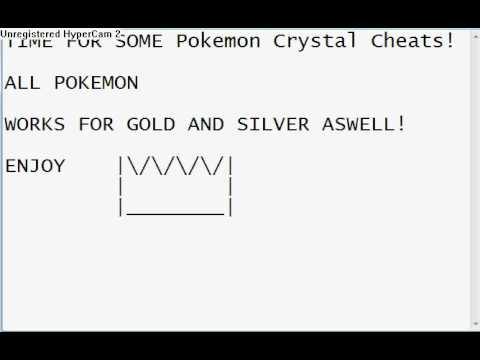 Pokemon Crystal(PC):Wild Pokemon Modifier Codes