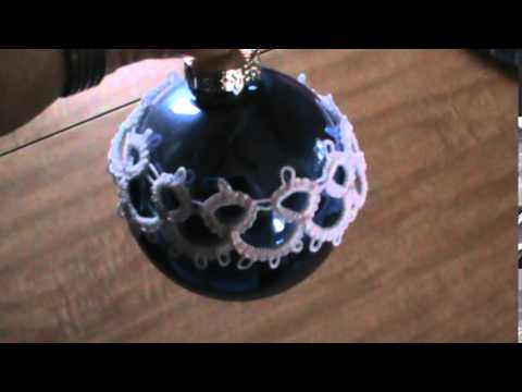 Tatted lace ornament
