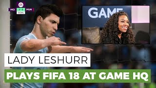 Lady Leshurr Plays FIFA 18 at GAME HQ