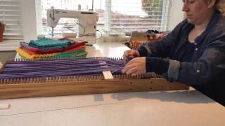 How to weave a cowl on the CraftSanity Cowl Loom