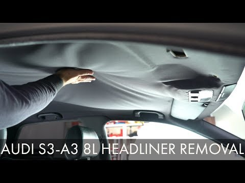 Audi S3 A3 8L Old Roof HEADLINER Removal