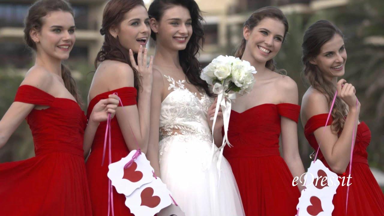 Edressit off shoulder red evening dress bridesmaid dress 07151702 edressit off shoulder red evening dress bridesmaid dress 07151702 ombrellifo Images