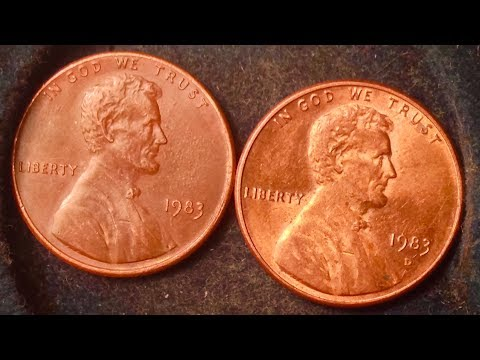 1983 Penny  Many Known Transitional Errors Worth $10,000$20,000