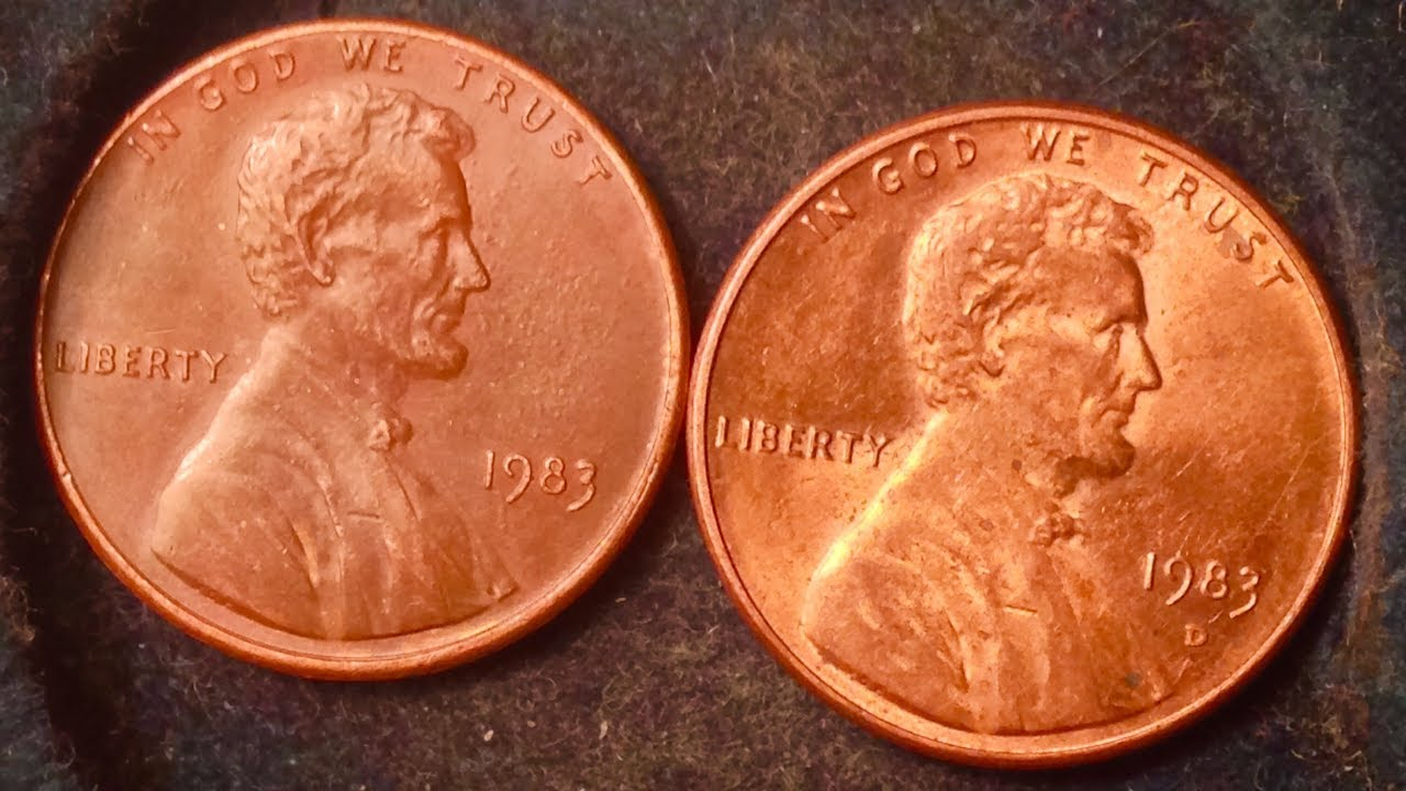 1983 Penny - Many Known Transitional Errors Worth $10,000-$20,000