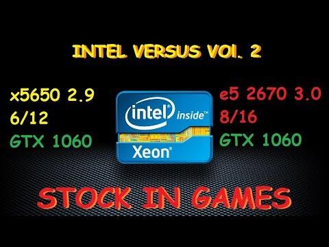 e5 2670 vs x5650 + GTX 1060 the stock in games