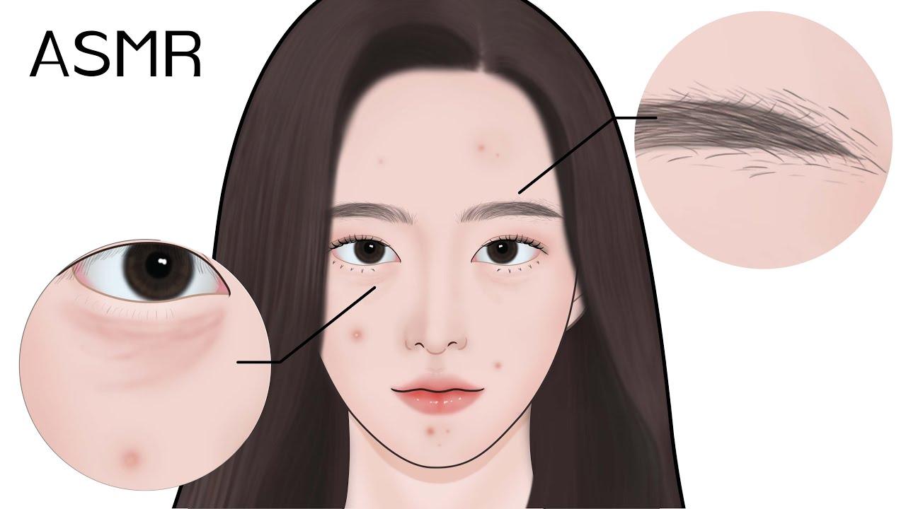 [ASMR] 안티에이징 & 트러블케어 피부관리 애니메이션 / 니들리 X 루루팡